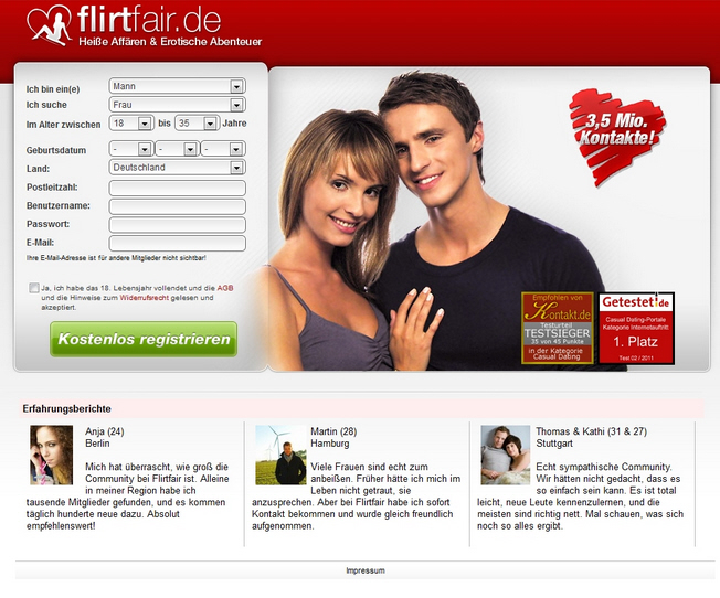 Deutsche dating seiten traffic